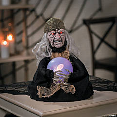 Animated Witch Fortune Teller Halloween Decoration