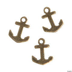 Antique Goldtone Mini Anchor Charms
