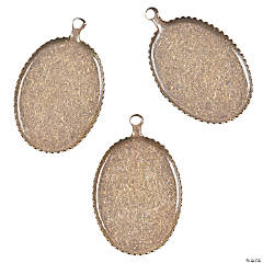 Antique Oval Bezel Charms