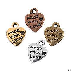 Antique Vintage Heart Charms