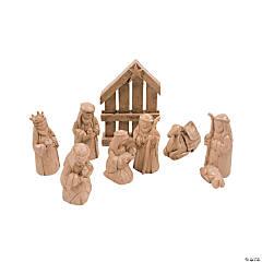 Antiqued Nativity Set