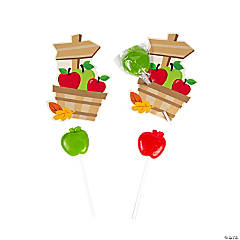 Apple-Shaped Lollipops with Card