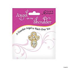 April Birthstone Angel On My Shoulder Pin