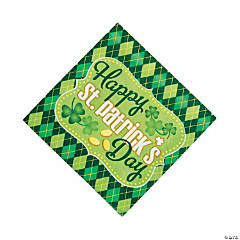 Argyle St. Patrick's Day Luncheon Napkins