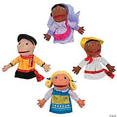 Around the World Happy Kids Plush Hand Puppets Set 1