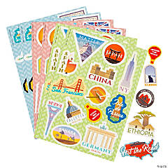 Around the World Sticker Sheets