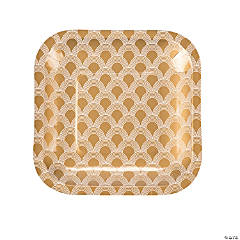 Art Deco Paper Dessert Plates - 50 Ct.
