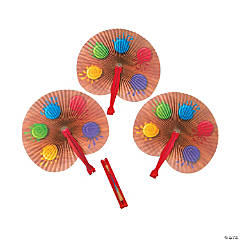 Artist Party Folding Hand Fans