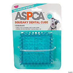 "ASPCA 2.5"" Squeaky Dental Cube Dog Toy-Blue"
