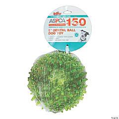 """ASPCA 5"""" Dental Ball Dog Toy-Green"""