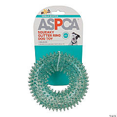 ASPCA Squeaky Glitter Ring Dog Toy-Blue
