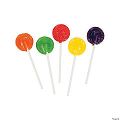 Assorted Fruit Flavors Candy Lollipops