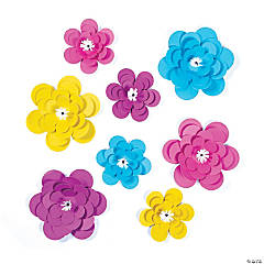 Assorted Paper Bright Flowers Party Décor