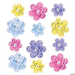 Assorted Paper Pastel Flowers Party Décor
