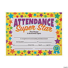 Attendance Super Star Certificates