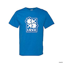 Autism Love Adult's T-Shirt- Extra Large