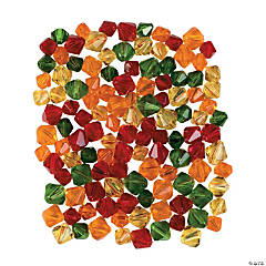 AUTUMN CUT GLS CRYSTAL BEAD MIX- 6mm-8mm