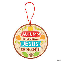 Autumn Leaves Jesus Doesn't Sign Craft Kit