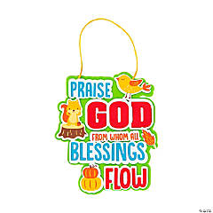 Autumn Praise God from Whom All Blessings Flow Sign Craft Kit