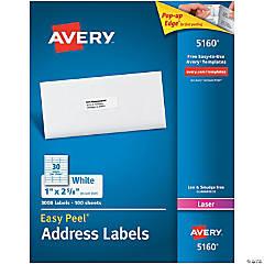 Avery® Easy Peel® Address Labels, Permanent Adhesive, 1