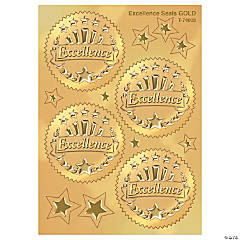 Award Seal, Excellence (Gold) - 32 per pack, 6 packs