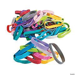 Awareness Bracelets Bulk Assortment - 100 Pc.