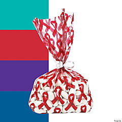 Awareness Ribbon Cellophane Bags