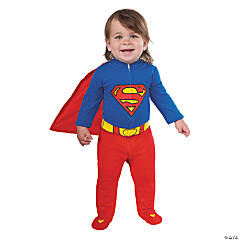 baby boys superman romper costume