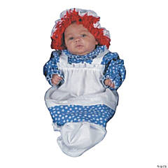 Baby Girl's Raggedy Ann Bunting Costume - 3-9 Months