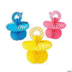 Baby Pacifier Honeycomb Centerpieces