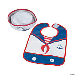 Baby Sailor Bib & Hat Set