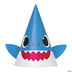 Baby Shark Cone Party Hats - 8 Pc.