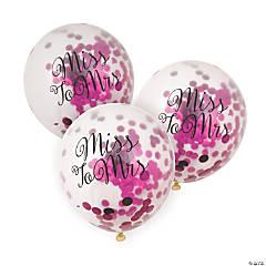 Bachelorette Pink Foil Confetti Latex Balloons