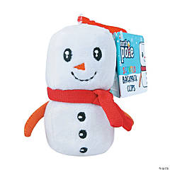 Backpack Buddies Plush Marshmallow Backpack Clip Keychain