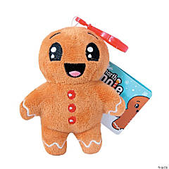 Backpack Buddies Stuffed Gingerbread Backpack Clip Keychain