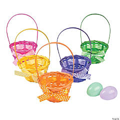 Bamboo Baskets with Bright Bows