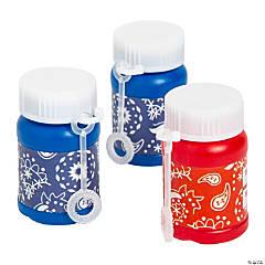 Bandana Print Mini Bubble Bottles - 24 Pc.