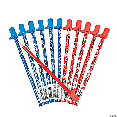 Bandana-Print Pencils with Boot Eraser Topper - 12 Pc.