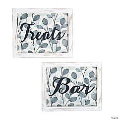 Bar & Treats Sign Set