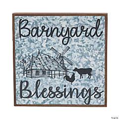 Barnyard Blessings Wall Sign
