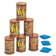 Barrel Can Toss Bean Bag Game