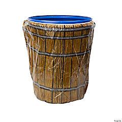 Barrel Plastic Trash Can Cover