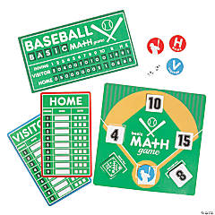 Baseball Addition & Subtraction Game