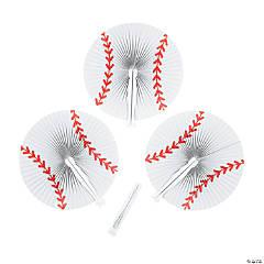 Baseball Folding Hand Fans