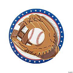 Baseball Mitt Dinner Paper Plates - 8 Ct.