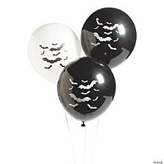"Bat-Printed 11"" Latex Balloons"