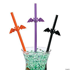 Bat-Shaped Straws Clip Strip