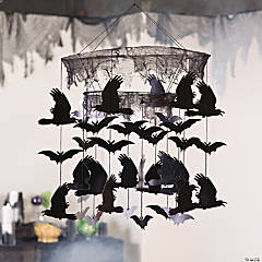 Bats & Ravens Mobile Halloween Decoration