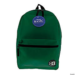 BAZIC® Basic Collection Backpack - Green, 16
