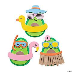 Beach Avocado Magnet Craft Kit